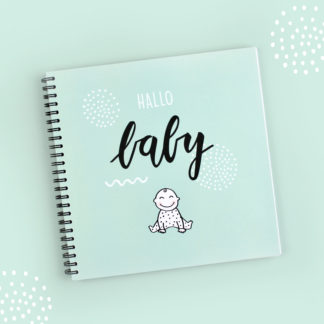 baby invulboek babyboek groeiboek mint dagboek opgroeiboek pastel notitieboek babyalbum