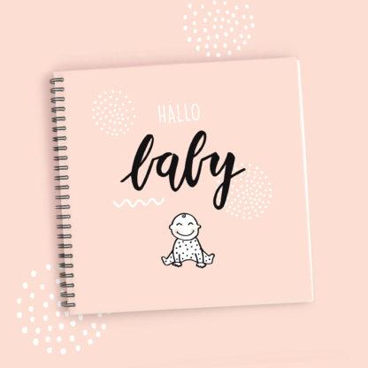 babyboek invulboek fotoboek eerste jaar roze pastel