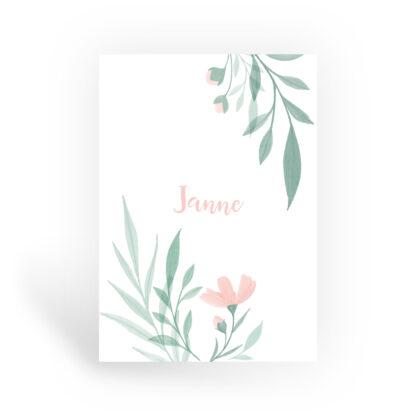 bloemen geboortekaartje