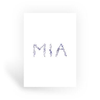mia geboortekaartje