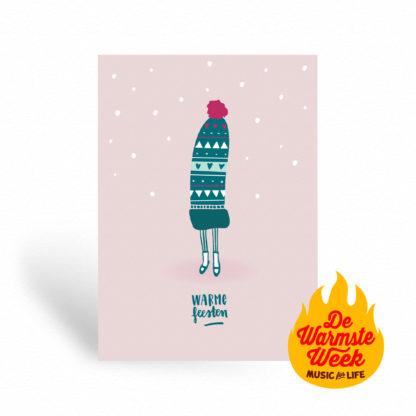 Kerstkaart goed doel, kerstwensen warmste week