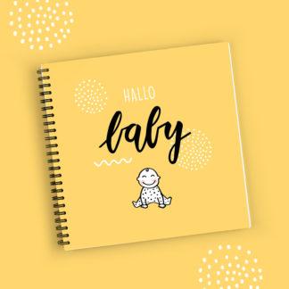 Invulboek baby eerste jaar geel