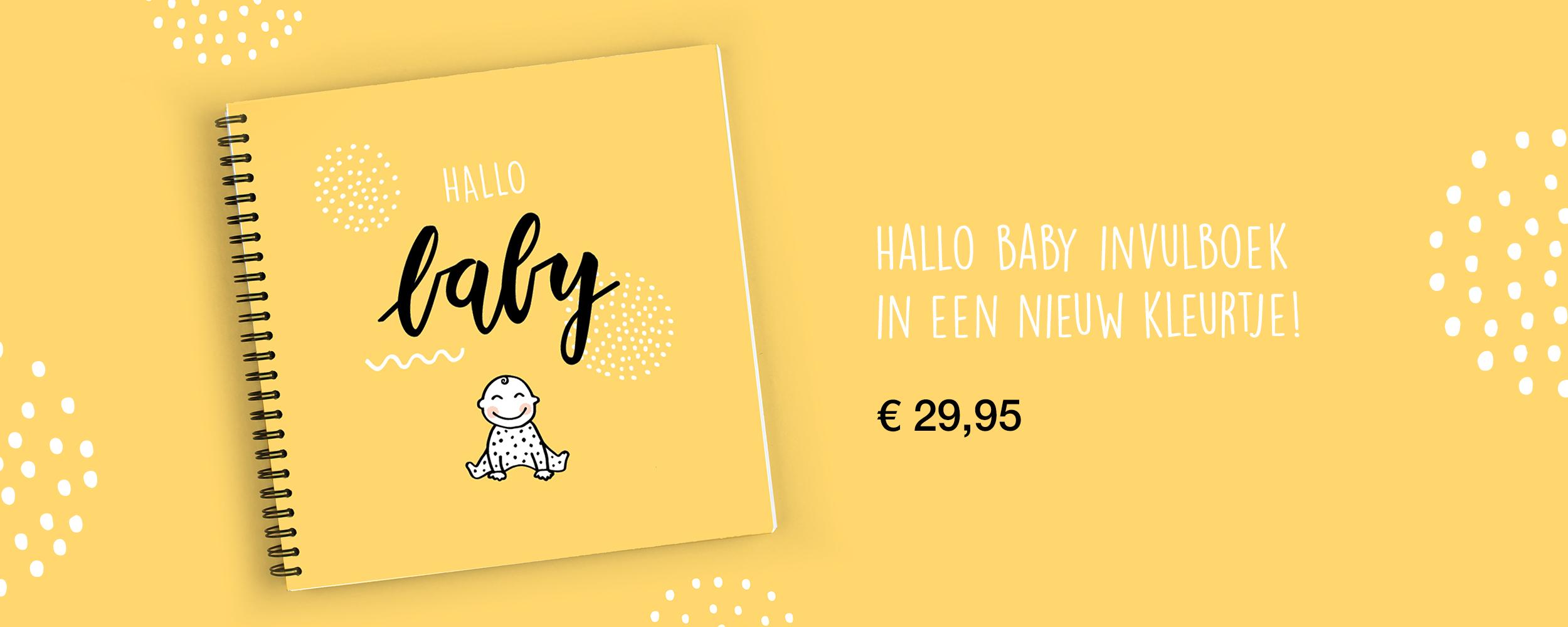 baby leukste invulboek eerste jaar geel