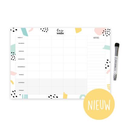 whiteboard weekplanner planner gezinsplanner familieplanner