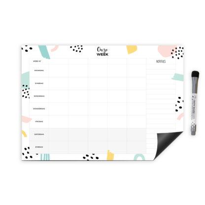 magnetische weekplanner whiteboard gezinsplanner planner familieplanner