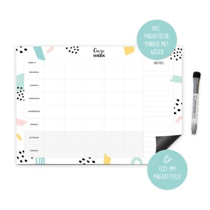 magnetische weekplanner whiteboard gezinsplanner