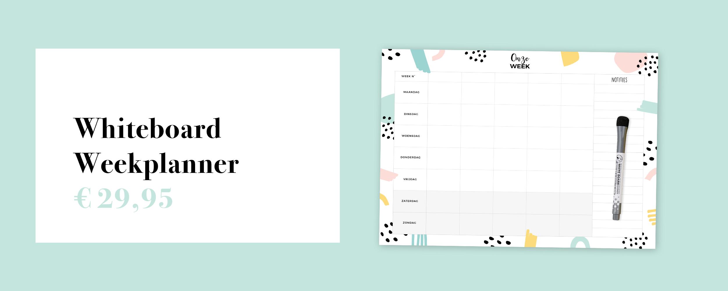 whiteboard weekplanner familieplanner